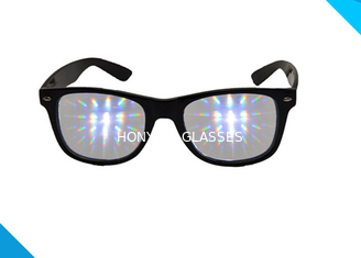 Chiny Rainbow Spiral Plastic 3d Diffraction Glasses For New Year Rave Parties dostawca