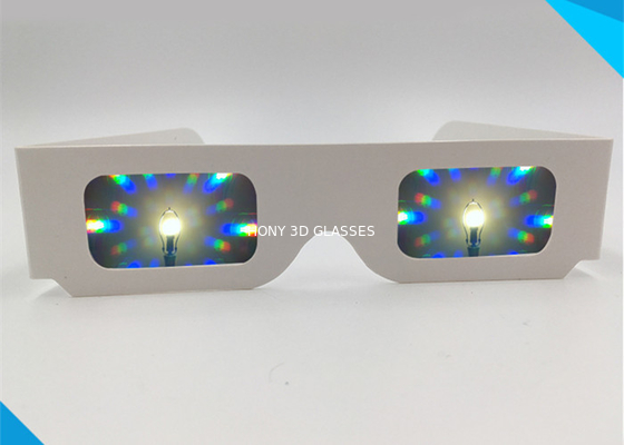 Chiny Concert 3d Fireworks Glasses , Paper Diffraction Glasses 13500 Light Gratings dystrybutor