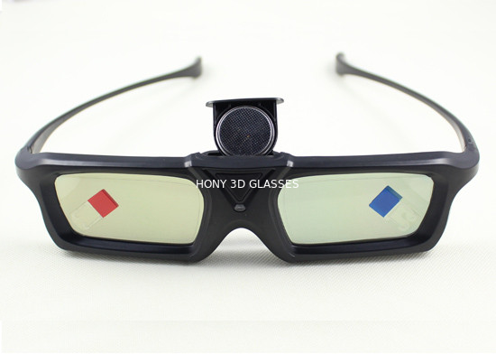 Chiny 144HZ DLP Link 3D Glasses Active Shutter Cr2025 Battery Powered dystrybutor