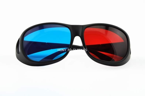 Chiny Foldable Plastic Red Cyan 3D Glasses For Normal Tv Or Computer dystrybutor