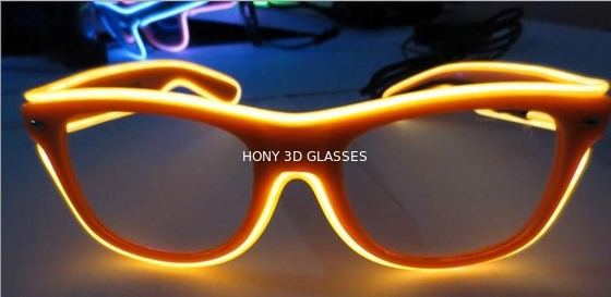 Chiny High Brightness Orange El Wire Glasses For Party Show With Pc Plastic Frame dystrybutor