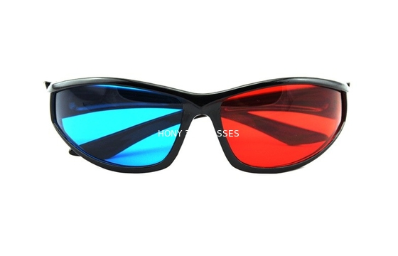 Chiny Eco-Friendly ABS Plastic Red Cyan 3D Glasses Polarized Watching 3d Movie dystrybutor