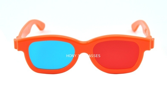 Chiny Children Plastic Red Cyan 3D Glasses , polarized 3d red cyan glasses dystrybutor