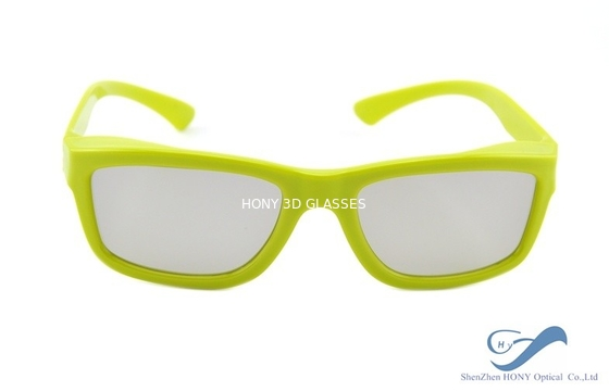 Chiny Yellow Plastic Frame Circular Polarization Lenses Reald 3D Polarized Glasses dystrybutor