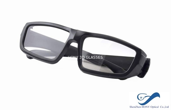 Chiny Cheap Plastic Reald 3D Polarized Glasses With Black Color For Cinema Using dystrybutor