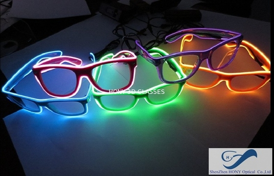 Chiny Popular El Wire Glasses Diffraction Effect Lens For Watching Fireworks dystrybutor