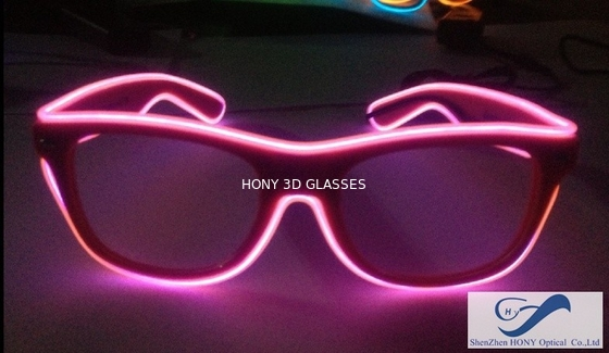 Chiny Shining Plastic El Wire Glasses Colorful Frames For Christmas Festival Party dystrybutor
