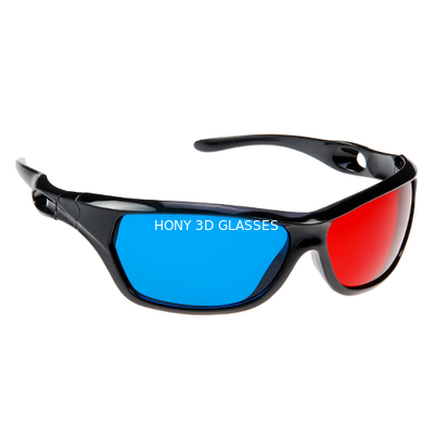 Chiny Anaglyph Plastic Red Cyan 3D Glasses Passive For Watching Movie dystrybutor