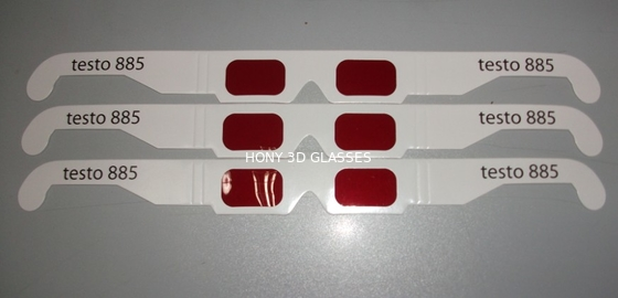 Chiny Disposable Paper 3D Decoder Glasses With Red Lens OEM ODM dystrybutor