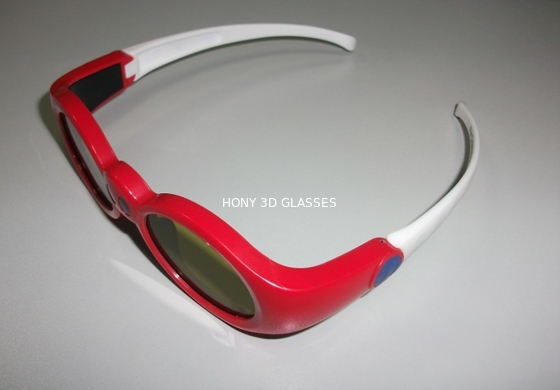 Chiny Red Anaglyph Xpand 3D Shutter Glasses Eyewear For Children At Home dystrybutor