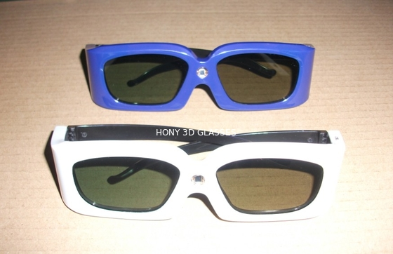 Chiny Green Blue Stereoscopic Universal Active Shutter 3D Glasses Compatible Link dystrybutor